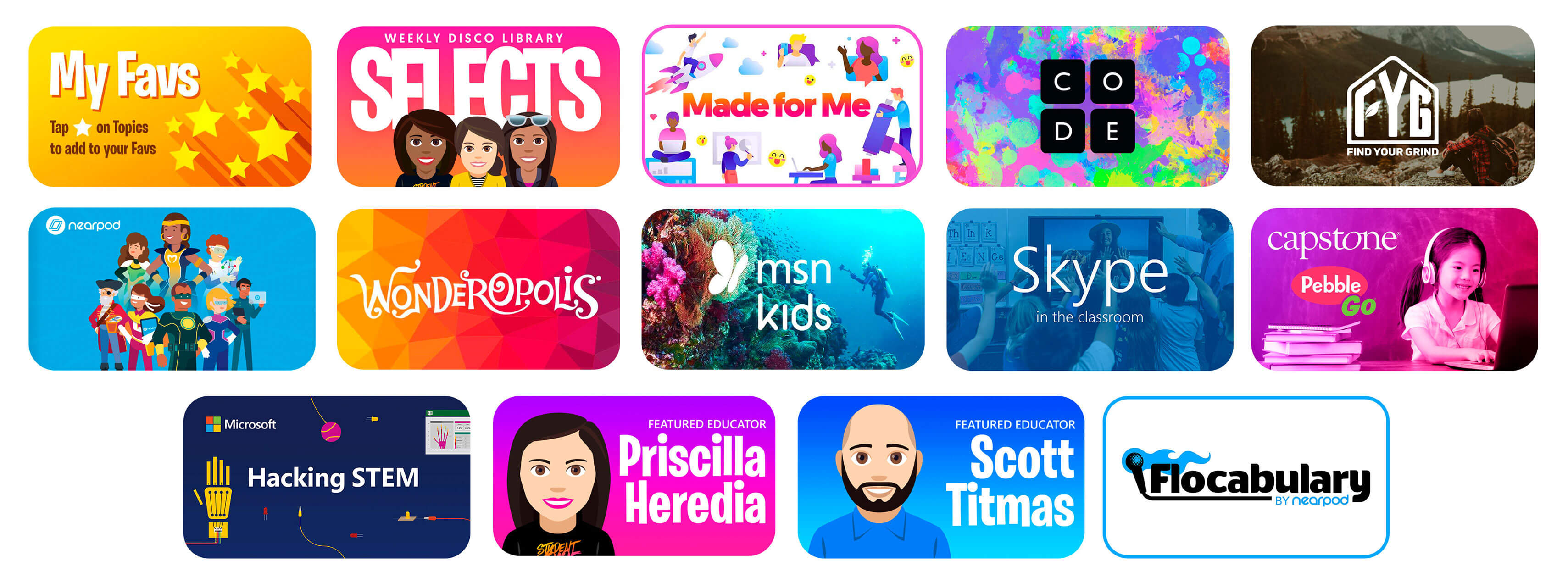 Featured Flipgrid Disco Library Topics