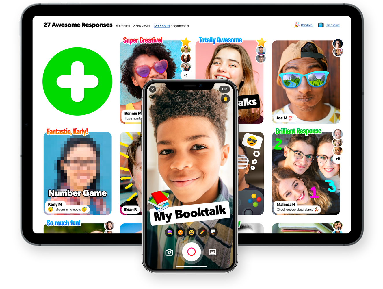 Tablet and phone showing Flipgrid